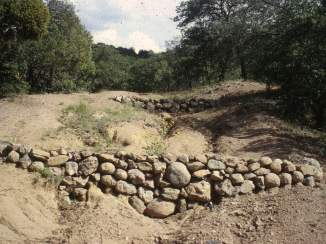 Eroded hillside
